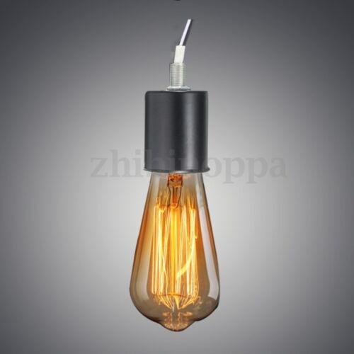 E27//E26 Retro Vintage Edison Screw Bulb Hang Pendant Lamp Holder Light Socket