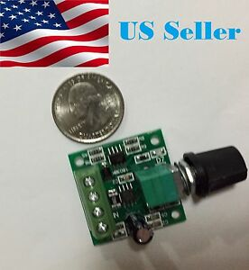 Mini DC 2A Motor PWM Speed Controller 1.8V-15V Speed Control Switch LED Dimmer