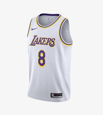 Nike Kobe Bryant LA Lakers #8 NBA Swingman Jersey White CI9503-100 ...