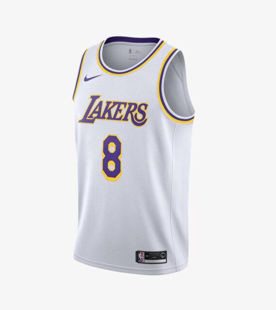RARE Nike Swingman Los Angeles Lakers Kobe Bryant White Jersey Sz ...