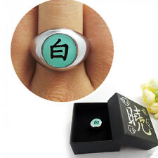 Top Anime NARUTO Akatsuki Member Konan Bai Metal Finger Ring Cosplay Gift &Box