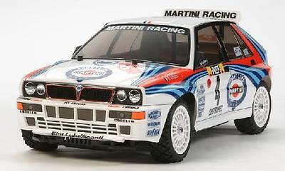 Tamiya 58569 1/10 RC Rally Car Kit XV01 Chassis Lancia Delta Integrale Martini