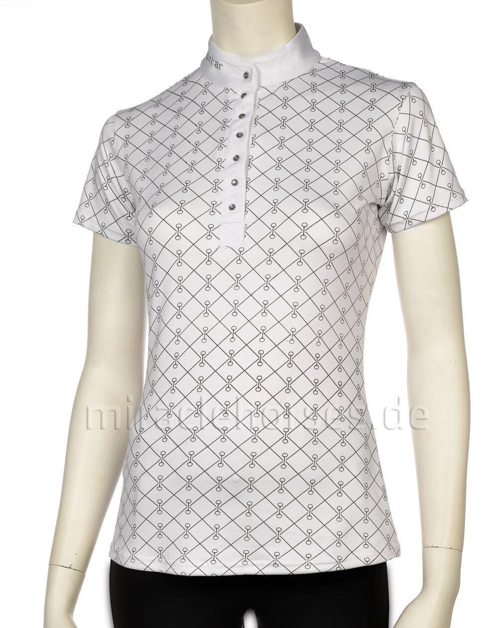 Montar® Damen Turniershirt Dawn Weiß Weiß Weiß grau weiß grau Gr. M 1fc8c0