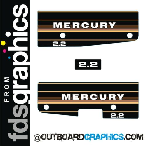 Mercury 2.2hp outboard engine decals//sticker kit