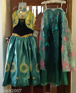 Image is loading Disney-Store-Frozen-Fever-Elsa-&-Anna-Fancy- & Disney Store Frozen Fever Elsa u0026 Anna Fancy Dresses Costumes All ...