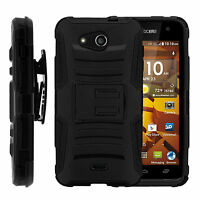 For Kyocera Hydro Wave C6740 | Kyocera Hydro Air C6745 Clip Black Stand Case