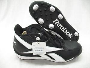 3990af3c3 Reebok 132054 NFL Thorpe Mid MR7 Football Baseball Lax Cleats Black ...
