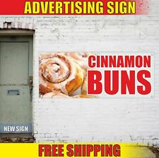 Cinnamon Buns Advertising Banner Vinyl Mesh Decal Sign Muffin Roll Bakery Pastry