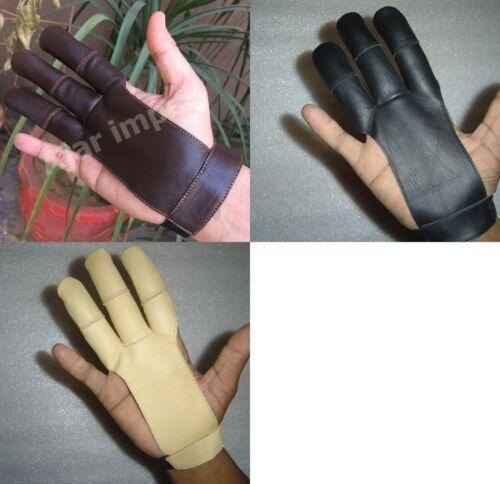 Traditionnel Tir à l/'arc Tir Gants de cuir de qualité supérieure GANT 100/% cuir véritable
