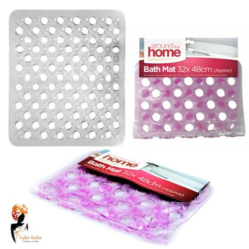 Bubble Bath Bathroom Shower Rubber Safety Mat Rug Anti Non Slip Suction Cups
