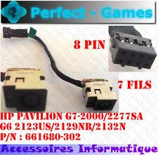 Connecteur alimentation DC power Jack HP Pavilion G7-2000 2277SA G6 2123 2129