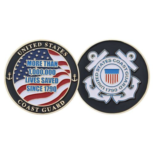 """COAST GUARD MORE THAN 1,000,000 LIVES SAVED SINCE 1970 1.75/"""" CHALLENGE COIN"""