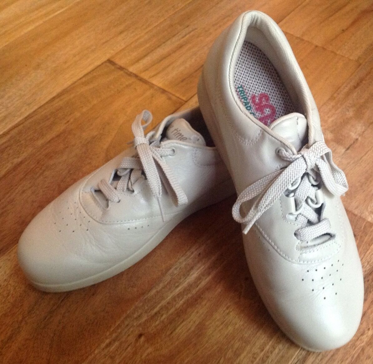 SAS Freetime Beige 7 M Leather Oxford Diabetic Walking shoes Comfort Support USA