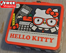 Hello Kitty METAL Lunch Box Glasses School Supplies Sanrio 2013 **NEW**