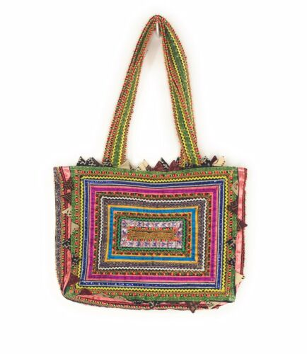Kala Raksha Tote Bag Quilted Handmade Multi Color
