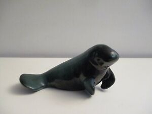 Blue Mountain Pottery Canada Manatee Figurine Florida Marine Mammal Sea Cow Ebay