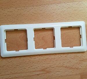 berker modul 2 polarweiss 3fach ebay. Black Bedroom Furniture Sets. Home Design Ideas