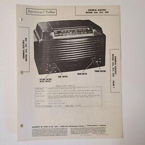 SAMS PHOTOFACT SERVICE MANUAL 37-6 GENERAL ELECTRIC RADIO MODEL 356 357 358