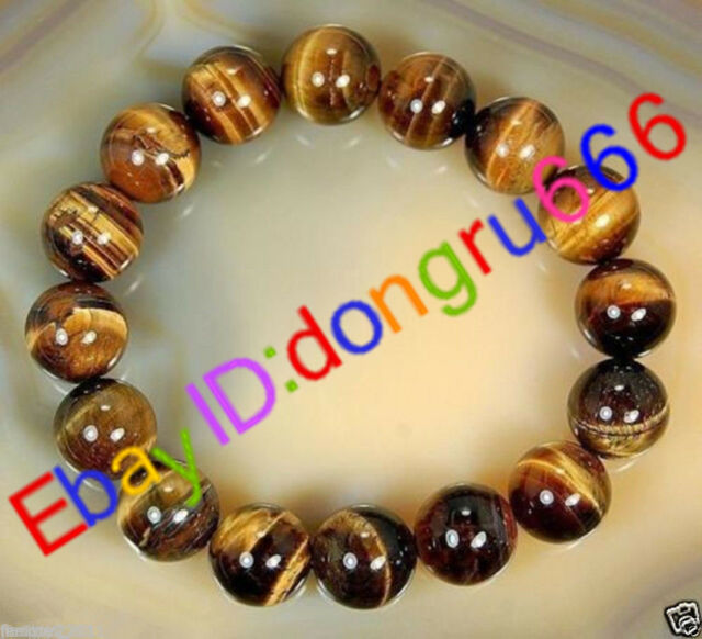 Fashion Natural African Tiger's Eye Gem Beads Bracelet
