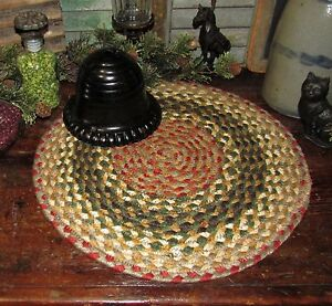 Primitive-100-Natural-Braided-Jute-Swatch-15-034-Trivet-Placemat-ROUND-MAT-24