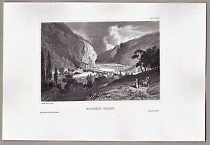Harpers-Ferry-West-Virginia-USA-Stich-Original-Stahlstich-um-1850