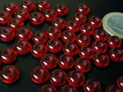 bolitas cuentas pulsera bola De 50 a 750 Bolas ROJO de resina 8x3,6 A.3,2