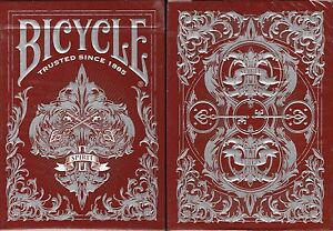 Spirit-II-Red-MetalLuxe-Bicycle-Playing-Cards-Poker-Size-Deck-USPCC-Limited-New