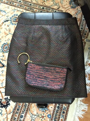 Marc By Marc Jacobs Size 4 Navy Metallic Quilted