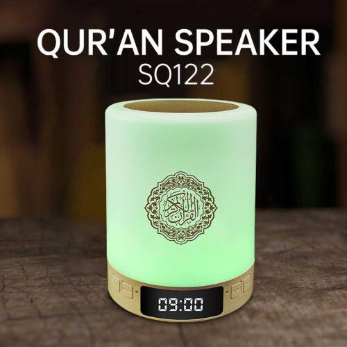 Azan /& Muslim Player Quran Touch Bluetooth Lampe Lautsprecher 8 GB Speicherkarte