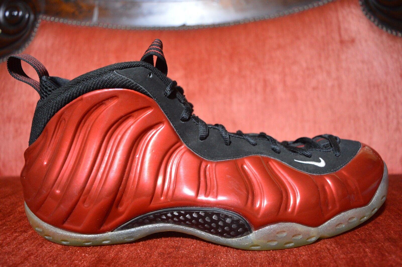 Nike Air Foamposites One Metallic Red Size 14 Varsity Red Black White 314996-610