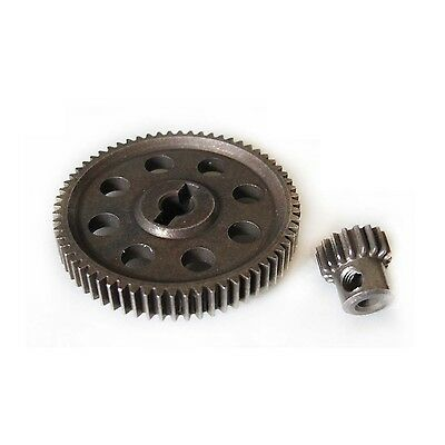 HSP RC 1/10 11184 & 11119 Differential Steel Metal Main Gear 64T Motor Gear 17T