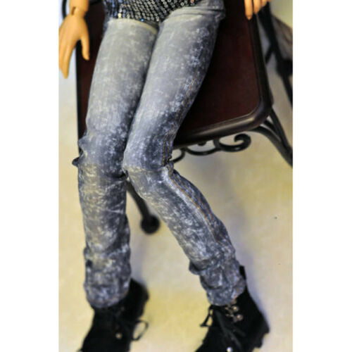 Blue Bandhnu Jeans pants Outfits For Male 1//4 17in 44cm BJD MSD AOD AS DOLL