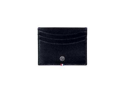 NEW ST Dupont Line D Brown Leather 6 CC Credit Card Holder ST180108