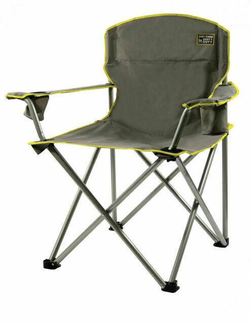 Quik Shade 150239 Heavy Duty Folding Camp Chair Gray