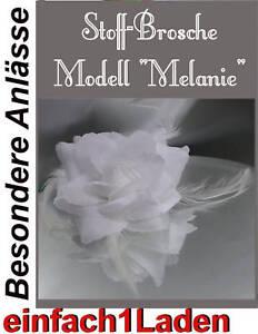 Direktverkaufspreis Kleidung & Accessoires Radient Brosche Melanie Weiße Stoffblüte Stoffbrosche Rose Brautschmuck Edel Festlich Damen-accessoires
