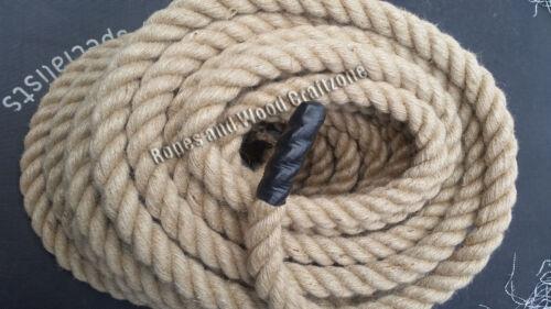 Natural jute de Hesse Corde Cordon Tressé Torsadé Boating nœud de jardin//terrasse//6-50