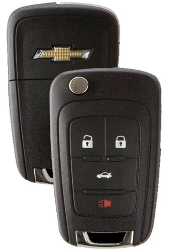 Chevy Remote Flip Key 4 Buttons New Keyless Entry Uncut Blade For GM Switchblade