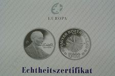 5000 Forint Ungarn 2006 Bela Bartok polierte Platte mit Zertifikat..M36