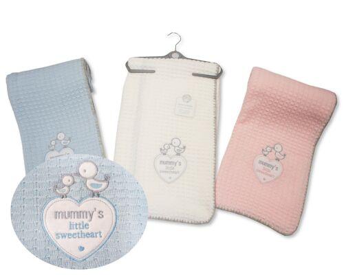 Baby Boys Girls Large Soft Christening Blanket Shawl Mummy/'s Little Sweetheart