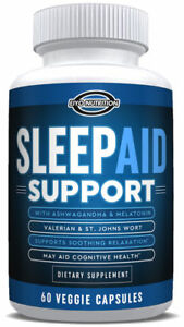 Details about Sleeping Pills All Natural to Relax - Meletonin 5-HTP  Ashwagandha for Insomnia