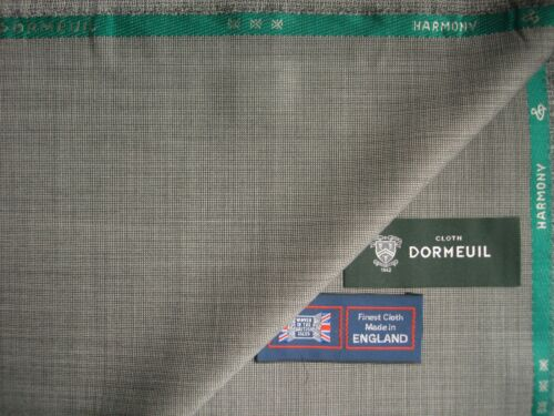 """DORMEUIL 100/%SUPERFINE WOOL SUITING """"HARMONY""""FABRIC IN Black//White Nailhead-3.4m"""