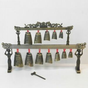 Chinese-Bronze-Bells-2-Tiers-Ancient-China-Musical-Instrument