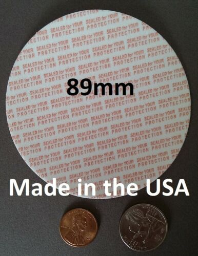 25-1000 89 mm de seguridad Espuma sellos de manipulaciones hechos en EE 89mm Press /& Seal Cap los trazadores de líneas UU