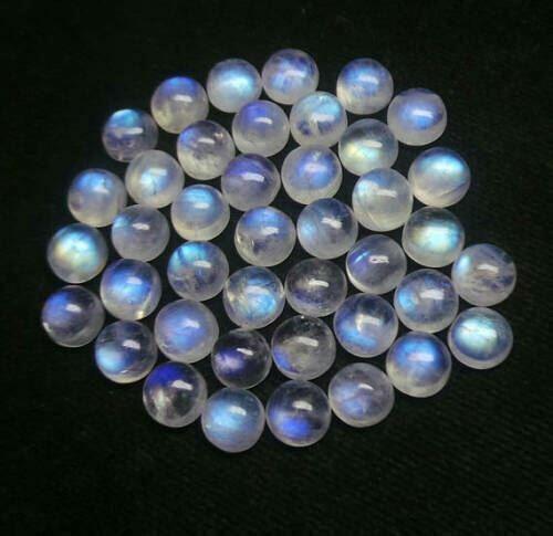 Natural rainbow moonstone big mix 3X3mm To 15X15mm Round Cabochon Loose Gemstone