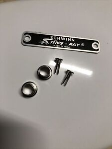 5 pcs Schwinn Stingray Krate Seat grommets And Badge for Q-bolts