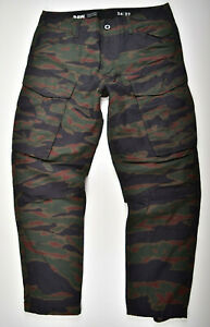 G-STAR-RAW-W34-L32-Rovic-Pm-3D-Straight-Tapered-Cargohose-Tiger-Camouflage