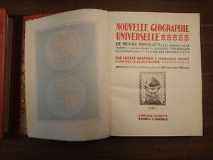 Nouvelle Géographie Universelle, Hachette (2 books, 1922)