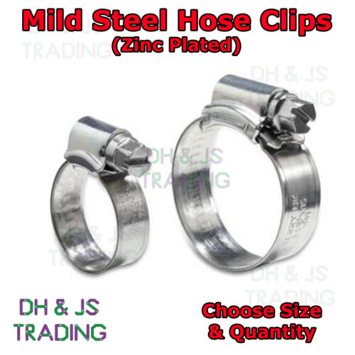 JCS Brand Zinc Plated Mild Steel Hose Clips Jubilee Clip Clips Pipe Clamps