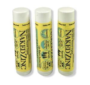 Naked Bee Lip Balm Zinc SPF 15 Sunscreen Reef Safe