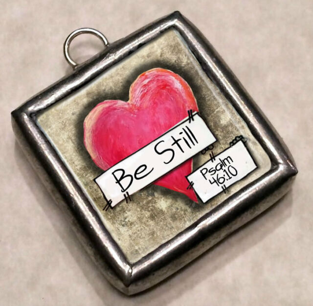 Be Still Psalm 46:10 Charm Pendant by IMCC & Dangle by jewel kade Plunder